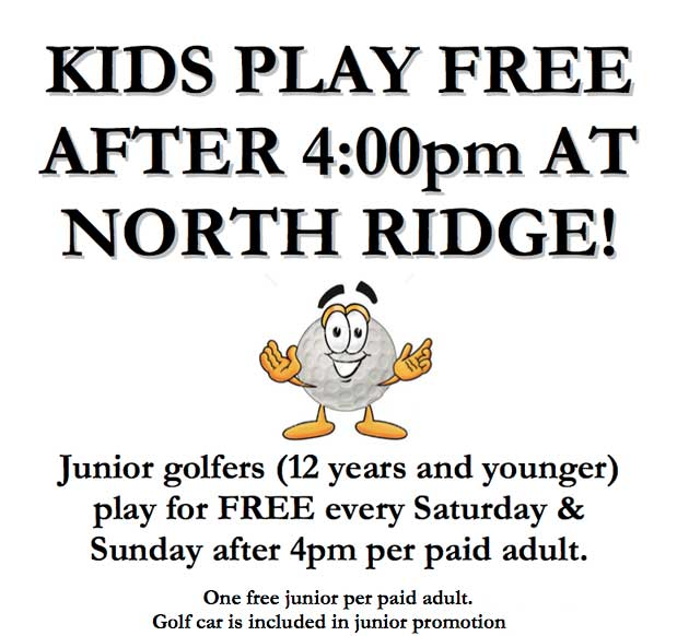 Kids Play Free Saturday and Sunday after 4:00